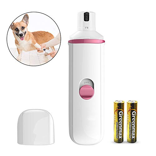 Dog Nail Grinder Electric Pet Nail Trimmer Low Noise Paws Grooming and Grinding Tool for Small Medium Large Dogs Cats (Color : Pink)
