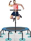 50' Fitness Trampolin Max. Laden Sie 250lbs Einfache Installation Klappbar Mini Trampoline für Kinder Indoor Zuhause Jumping