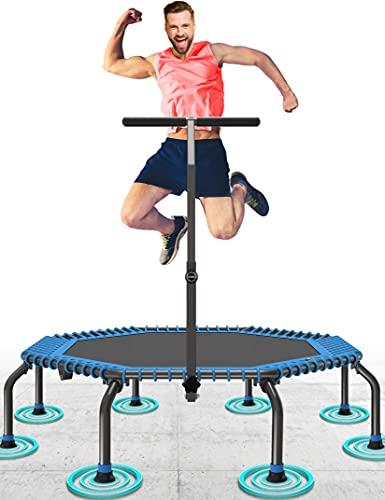 50' Trampolino Elastico Fitness Max. Carica 250lbs Silenzioso Installazione Facile Pieghevole Tappeto Elastico per Bambini Adulti