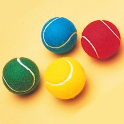 Neu Schläger Sport Outdoor Spielen Übung Training Farbige Tennisball - Rot, One Size