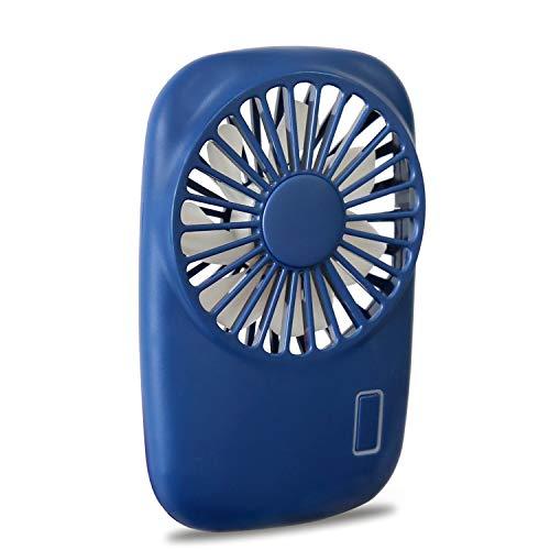 Aluan Handheld Fan Mini Fan Powerful Small Personal Portable Fan Speed Adjustable USB Rechargeable Cooling for Kids Girls Woman Man Home Office Outdoor Travel, Navy Blue