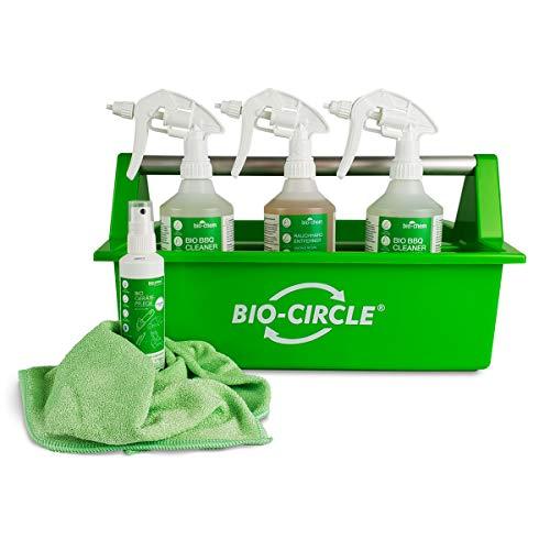 Bio-Chem Grill-Box: 6-teiliges Reinigungs-Set/Pflege-Set mit Grill-Reiniger Grillrost-Reiniger für Grill, Smoker und Zubehör mit Mikrofasertuch und Werkzeugbox 1,1 L