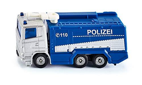 siku 1079, Polizei Wasserwerfer, Blau/Weiß, Schwenkbarer Wasserwerfer, Spielzeugfahrzeug für Kinder