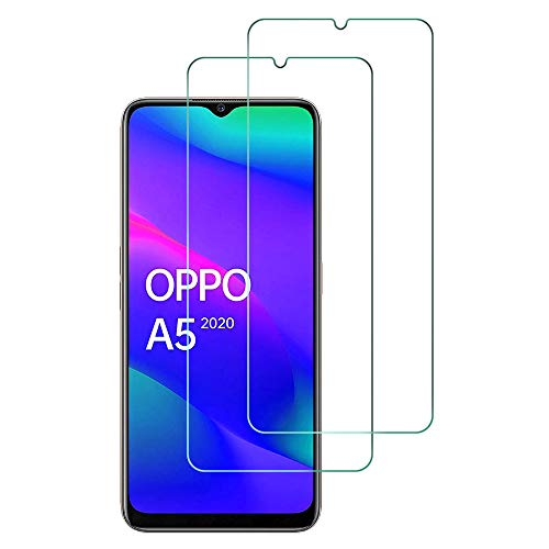Widamin 2Pack, Protector de Pantalla para OPPO A5 2020, Cristal Templado, [dureza de 9H], [De Alta Definición], Protector Compatible con OPPO A5 2020