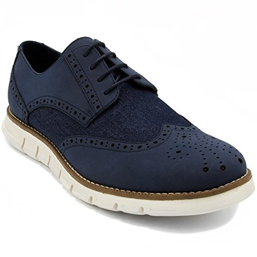 Nautica Men's Wingdeck Oxford Shoe Fashion Sneaker Navy Denim-10.5