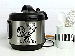 Instant Pot Vinyl Decal | Under Pressure • 3 Sizes Available • Freddie Mercury • Lots of Colors to Choose From • Instapot • Pressure Cooker Decal • BlueMoonFlowerDesign
