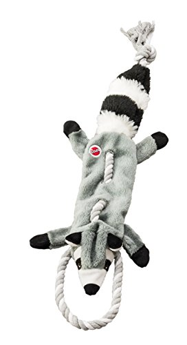 SPOT Ethical Pets Forest Raccoon Skinneeez Tugs Stuffingless Dog Toy, 23'