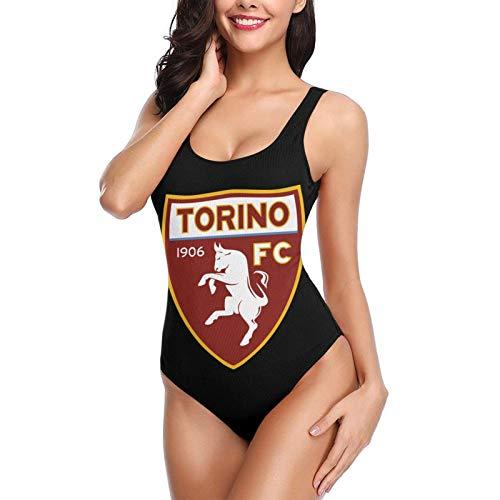 Tor-ino Football Club Women Bikini Backless Swimwear One-Piece Swimsuit Beach Bathing Suits