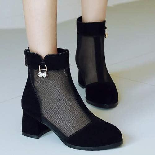 Shukun Sandales Chaussures Romaines Baotou Baotou Sandals avec Maille Bottes Courtes Bottes en Filet pour Femmes Bottes fraîches d'été épais avec Grande Taille  édition limitée