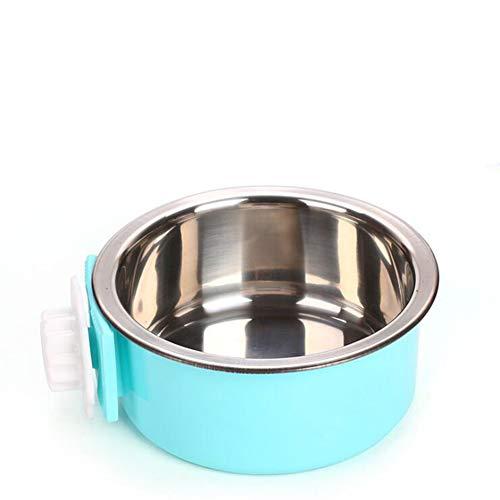 XB Katze Hundefutter Schüssel Pet Geschirr Höhenverstellbarer Köder Teller Edelstahl Anti-Rutsch-Wasser Paddy-Reis Gericht Stilvoll