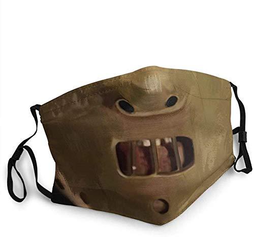 Hannibal Lecter - Bufanda de decoración facial, lavable, reutilizable, adecuada para niños y adultos