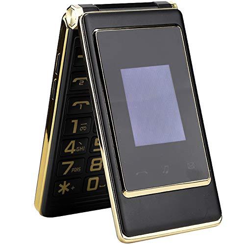 Mobiele telefoon voor senioren, gemakkelijk te gebruiken en te dragen, touchscreen telefoon met dubbele simkaart, mobiele telefoon met grote knoppen Geschikt voor kinderen en volwassenen(EU-stekker)
