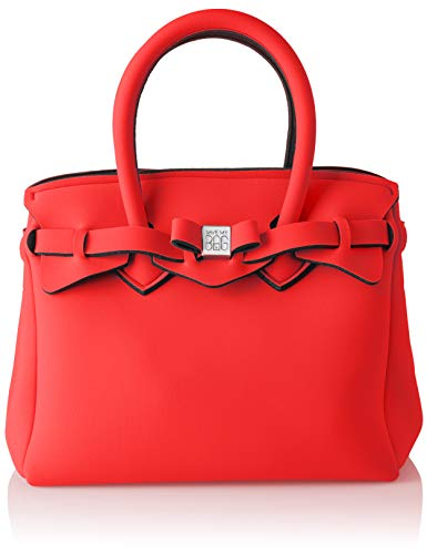 save my bag Petite Miss, Borsa a Mano Donna, Rosso/Red Cobalt, 26x23x13 cm (W x H x L)