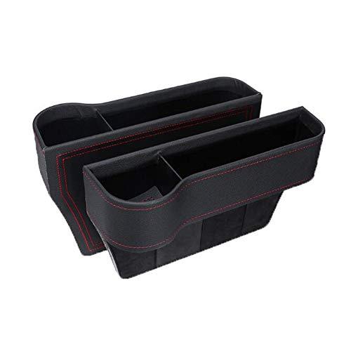 Yiyu Multifunktionaler Autositz-Organizer, Aufbewahrungsbox Für Autositzabstände, Sitzlückenfüller Mit Getränkehalter, PU-Ledersitzkonsolen-Organizer-Tasche, 2Er-Pack x (Color : 1)