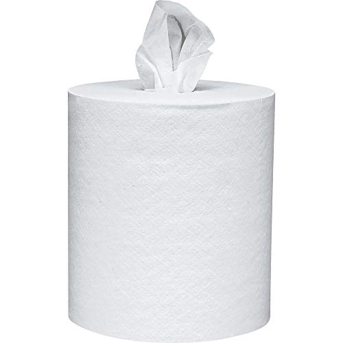 Scott KCC01032 Essential Roll Control Center Pull Paper Towels -1032 with Fast-Drying Absorbency Pockets, Perforated Full-Sized Hand Paper Towels, White (6 Rolls per Case, 4200 Sheets Total)
