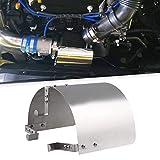 Ruien 汎用 エアクリーナー 遮熱板 カバー 剥き出し型エアフィルターに対応 エアクリ 鏡面仕上がり シルバー