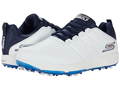 Skechers Herren Pro 4 Legacy Golfschuhe, Weiß/Marineblau, UK, Weiß - Weiß Marineblau - Größe: 43 EU