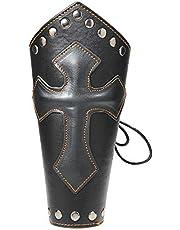 CHSEEO Protector Guardia de Brazo para Tiradores Pulsera Guardabrazos Protección Brazalete de Cuero Manguito de Brazo Accesorio Cosplay Tradicional para Caza Tiro con Arco #1