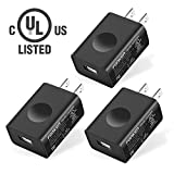 UL Certified USB Wall Charger, FONKEN 3-Pack 5V 2A Power Adapter universal travel Charger USB Plug Cell Phone Charger for Compatible iPhone, iPad, Google Nexus, Samsung, LG, HTC, Moto, Kindle and More