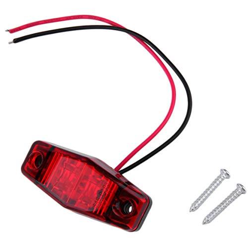 Hot1 pc LED Remorque Camion 2 Diode 1x2.5 Dégagement de surface Feu de gabarit latéral Largeur submersible Lampe Dégagement Lampe Car Styling - Rouge