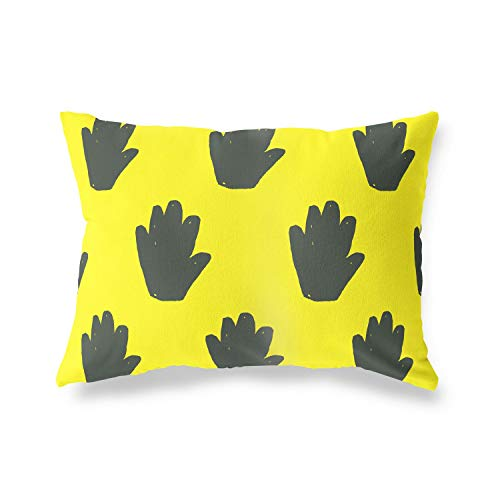 BonaMaison Decorative Cushion Cover, Neon Yellow-Fume Throw Pillow Covers, Home Decorative Pillowcases for Livingroom, Sofa, Bedroom, Size: 45X60 Cm - Designed and Manufactured in Turkey