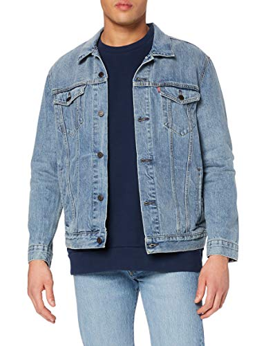 Levi's The Trucker Jacket, Giacca in Jeans Uomo, Blu (Icy), Large