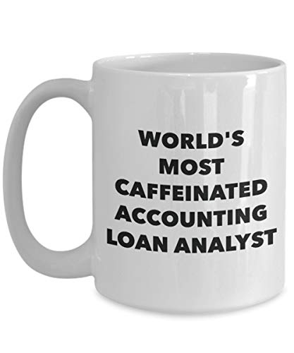 DKISEE boekhoudkundige lening analist mok - 's werelds meest cafeïnevrije boekhouding lening analist - grappige thee Cup Kerstmis Thanksgiving Festival vrienden cadeau 11oz Kleur: wit