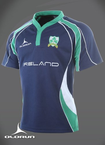 Rugby Shirt Irland Fans S-XXXXL - Blau, XXL