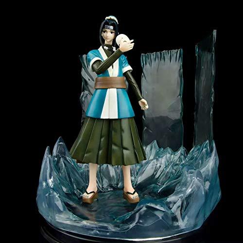 HYKCSS Momochi Zabuza Zauberspiegel, Eiskristall, Weiß, Hochwertige Version der Skulptur Puppenskulptur Spielzeug Dekoratives Modell Handhöhe 25cm