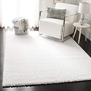 Safavieh August Shag Collection AUG900A Solid 1.2-inch Thick Area Rug, 12' x 15', White (B07W4X5X5N)   Amazon price tracker / tracking, Amazon price history charts, Amazon price watches, Amazon price drop alerts
