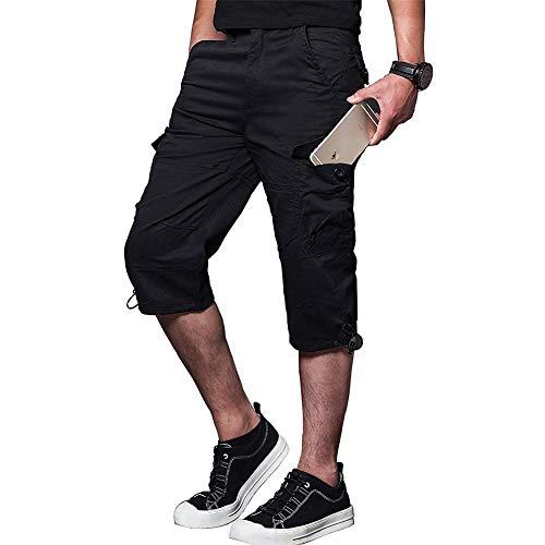 Armbyn Mens Casual Cargo Shorts Ademend Klimmen Safari Shorts Multi-Pockets Broek M-3XL
