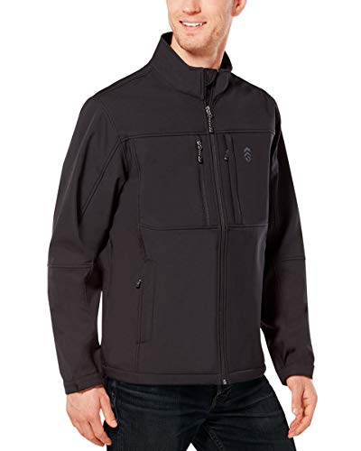 Free Country Men's Ultimate Super Softshell Jacket (Black, L)