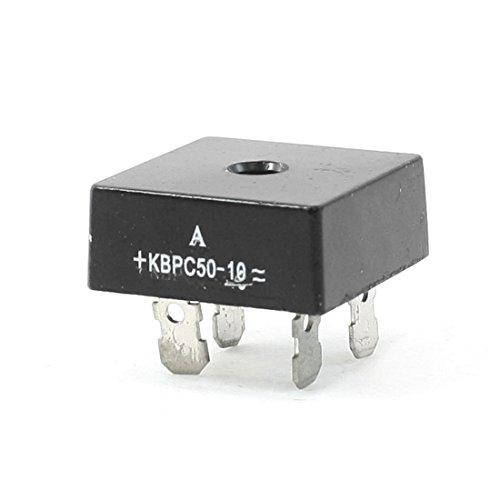 KBPC50-10 1KV 50A monofásico puente rectificador de media onda Negro