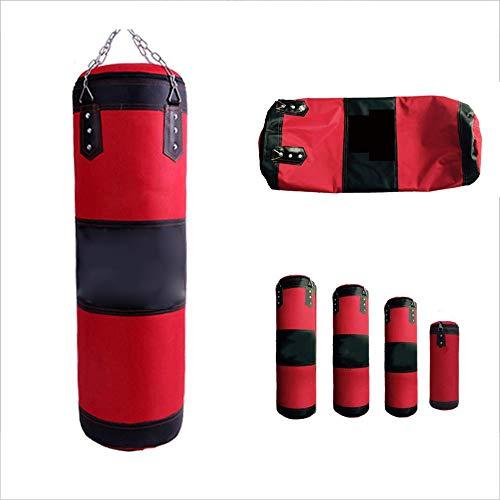 WXH Boxsack gefüllt Wandhalterung Boxen Training MMA hohlen Sandsack, Edelstahl Deckenhaken, hochwertige Oxford Tuch, Fitnessgeräte,XL