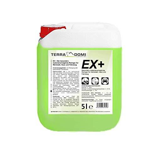 Terra Domi Ex+, 5 L Reinigungsmittel für Boden, Maschinen, Betrieb & Werkstatt, biologisch abbaubar, umweltfreundlicher Reiniger ohne Phosphate, kraftvoller Industriereiniger