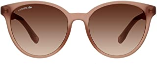 Lacoste Round Sport Inspired Transparent Nude Sunglasses For Women 54-17-140mm