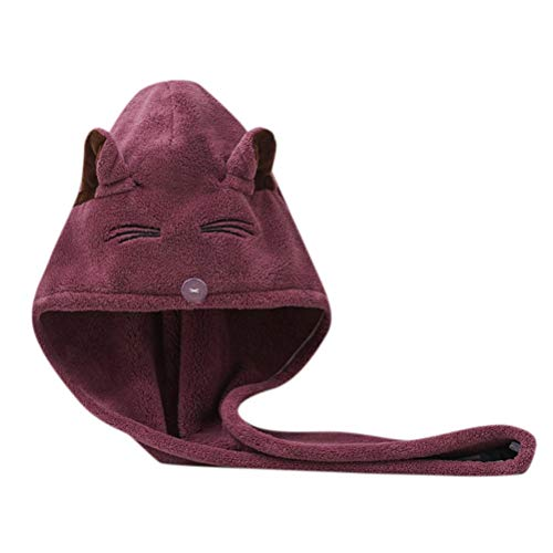ZAIZAI Toalla De Baño De Microfibra Gruesa De Secado Rápido Súper Absorbente De Baño para Mujer (Color : Purple)