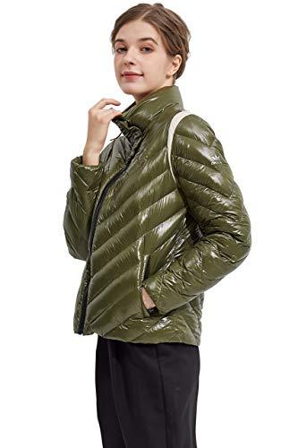 Orolay Women's Light Down Jacket Sports Winter Coat Stand Collar Puffer Jacket Winter Moss XS