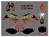 Yhfhaoop Red Black Motorycle Style Team Graphics Fondos de calcomanías Pegatinas Kit para Honda CRF250 CRF250R 2006-2007 hnyhf
