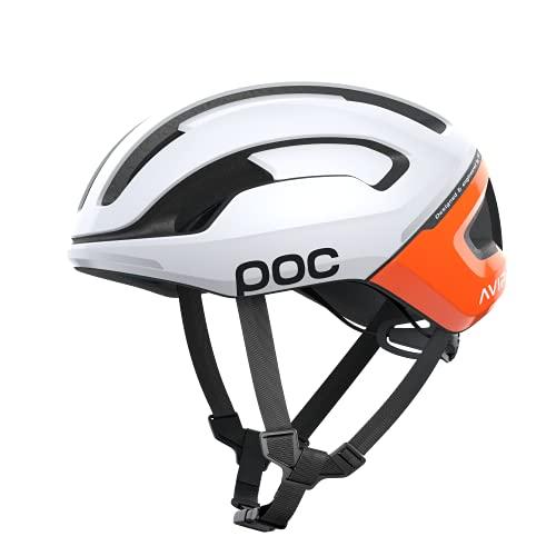 POC Omne Air Spin, casco da bici Unisex adulto, Zink Orange AVIP, L (56-61cm)