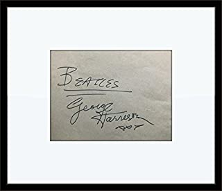 Framed George Harrison Beatles Autograph with Certificate of Authenticity