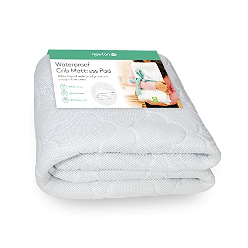 Newton Baby Waterproof Crib Mattress Pad Protector | 100% Breathable Proven to Reduce Suffocation Risk, Universal Fit, 100% Washable