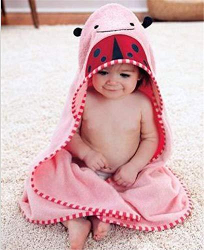 Mignon Animal - Toalla con capucha para bebé, de algodón extra suave para recién nacido (mariquita)