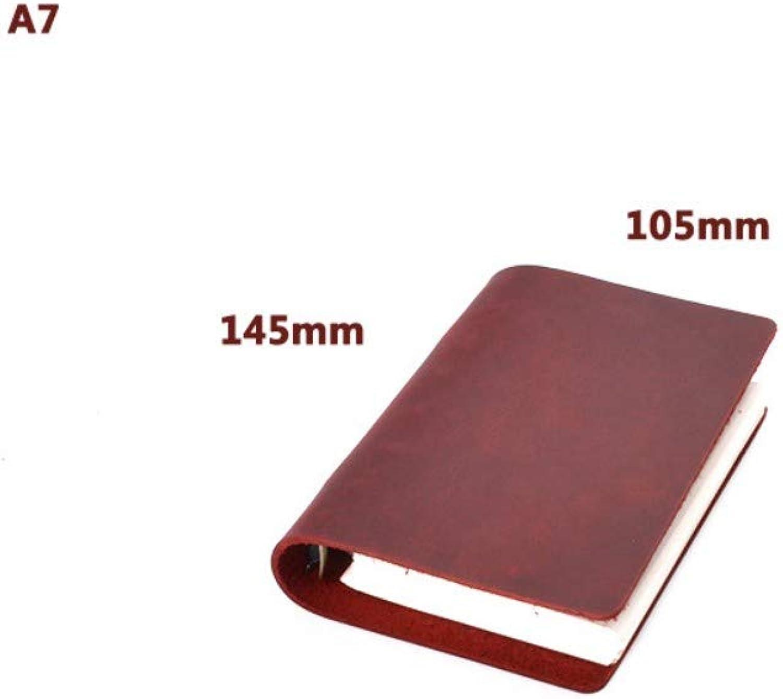 Notizbuch, Loseblattnotizbuch Retro- Retro- Retro-   verrücktes Pferdefell Handbuch Geschäftsnotizbuch   A7   Rot   145  105mm B07PK7N2C4   Neuer Stil  ba6321