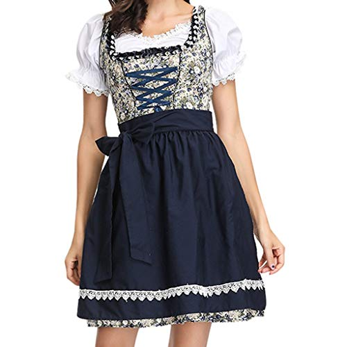 Dienstmädchen Kostüm,Maid Cosplay Halloween Damen Fairytale Vintage Style Maskerade Performance Anzug Drama Beer Festival Dress Up,Beer Festival Carnival Cosplay Kostüme (Schwarz, M)