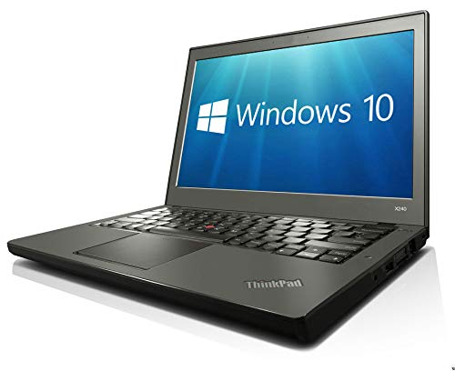 Lenovo ThinkPad X240 12.5' 4th Gen Intel Core i7-4600U 8GB 256GB SSD WiFi Windows 10 Professional 64-bit Laptop PC (Renewed)