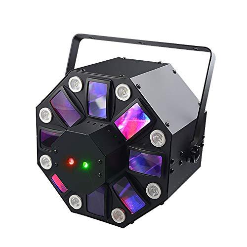 Warm Disco Lights LED Stage DJ Party Light DMX512 RGB Colorful Rotating Strobe Light Stage Lighting for Dancing Thanksgiving KTV Bar Club Birthday Romantic