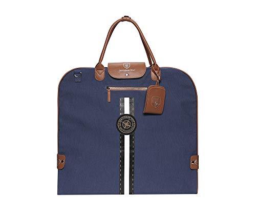 GENTLEMAN SYLT Anzugtasche, Kleidersack Damen & Herren, Kleiderhülle blau, Reisetasche zur faltenfreien Aufbewahrung 57x60cm