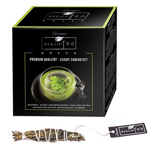 Creano exquisitea – Grüner Tee – ganze Teeblätter so einfach wie ein Teebeutel zubereitet - WELTNEUHEIT