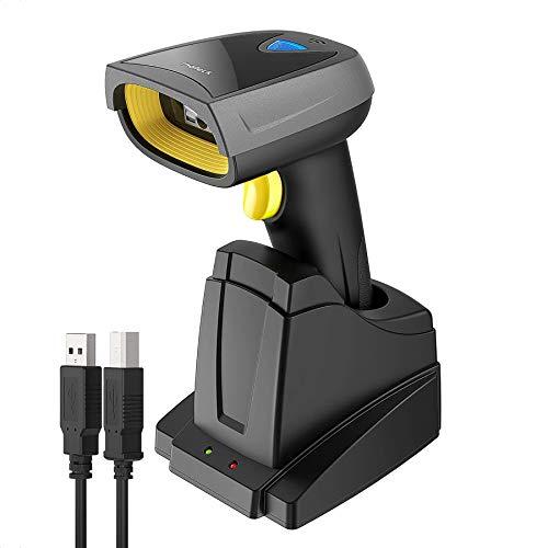 Inateck 2D Barcode Scanner Bluetooth, Wireless QR Code Scanner mit Intelligenter Ladestation, 2D Imager mit 2000 mAh Akku, 1 Ladung 30 Tagen Dauer, Bildschirm Scannen Unterstützt, Bcst-52